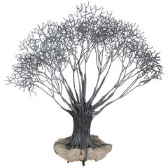 Large Bronze Tree Sculpture