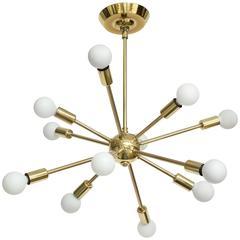 Majestic Lamp Company of New York Brass Sputnik, circa 1960s
