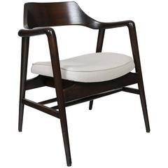 Gunlocke Wood Framed Armchair