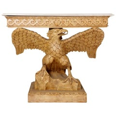 Wonderful 20th Century Carved Wood Eagle Console