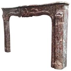 Louis XVI Antique Marble Mantel