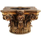 Carved Giltwood Corinthian Capital Jardiniere Planter
