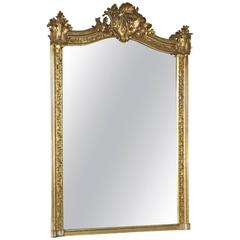 19th Century French Napoleon III Gilded Mirror
