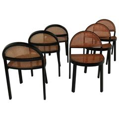 Set of Six Chairs by JonathanDe Pas & Donato D'urbino