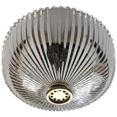 Austrian Kalmar Crystal 1960s Flush Ceiling Light
