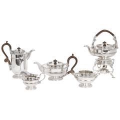 Antique Silver Tea Coffee Set of Five Paul Storr Style, 1917