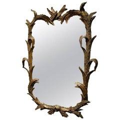 Italian Hand-Carved Gilt Mirror