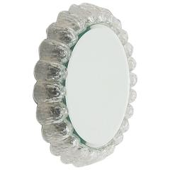 Kalmar Illuminated Ice Glass Round Mirror
