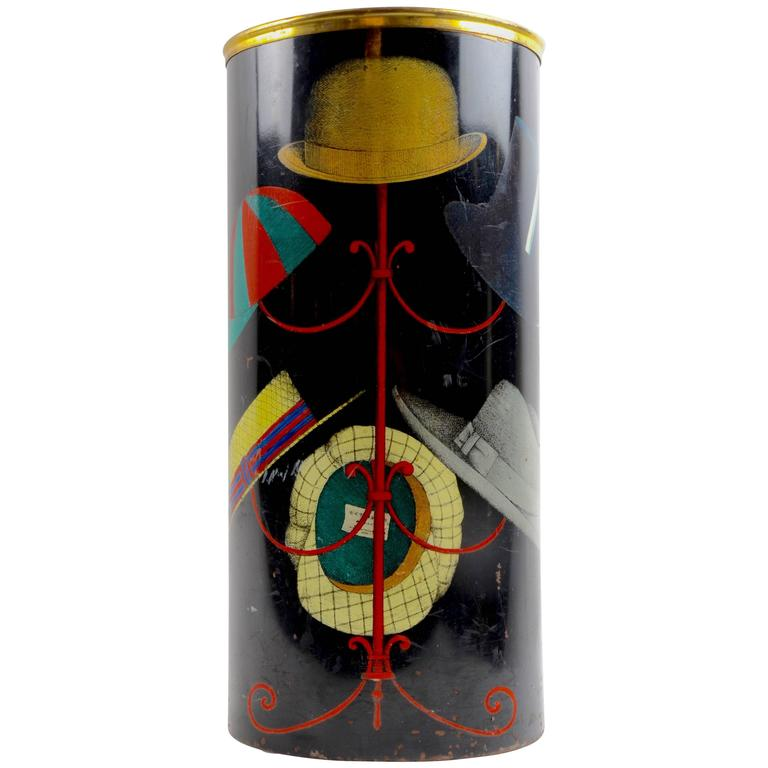 Piero Fornasetti, Umbrella Stand, Motif of Hats, Mid-1900s