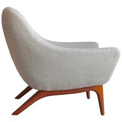Rare ML 90 Easy Chair by Illum Wikkelsø for A. Mikael Laursen