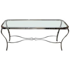 1970s Chrome Console Table