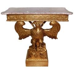 Elegant Giltwood Eagle Console Table