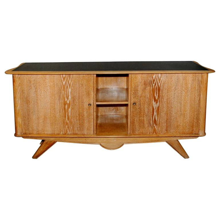 1940s French Cerused Credenza For Sale