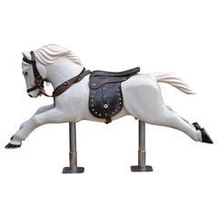 Wooden Carousel Western Horse