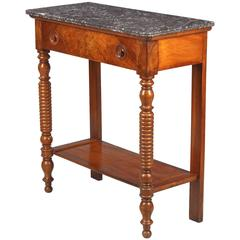 Louis Philippe Marble-Top Console Table, 19th Century