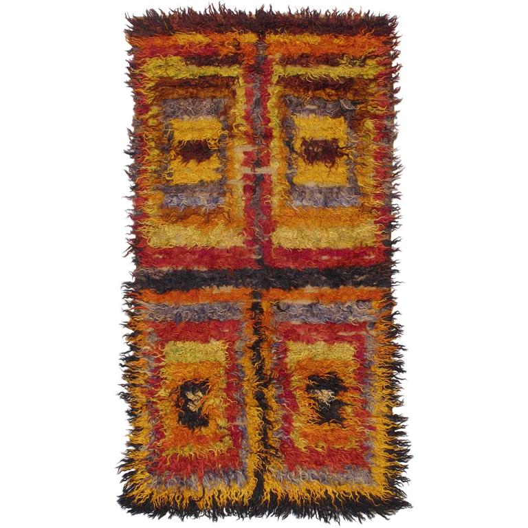 Four Squares, Angora Tulu Rug For Sale At 1stdibs