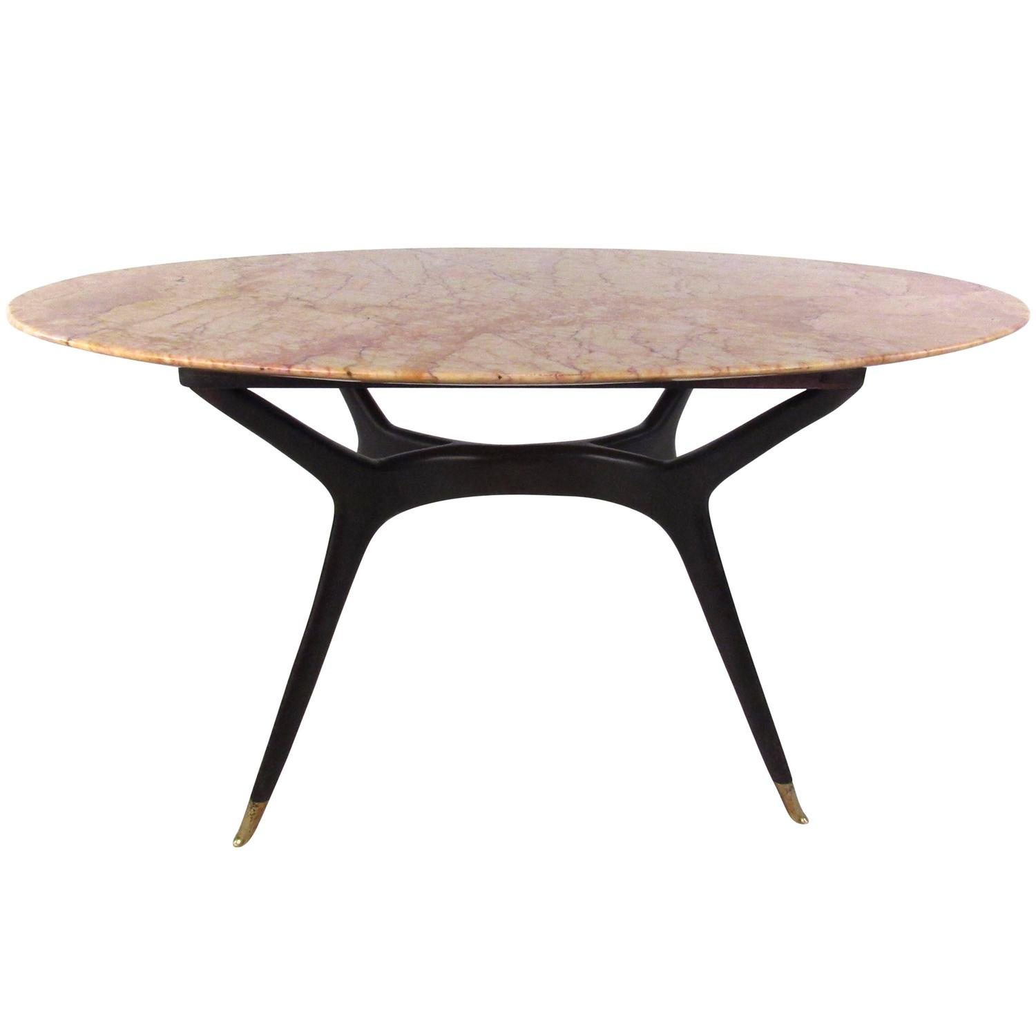 Mid Century Modern Italian Marble Coffee Table In The