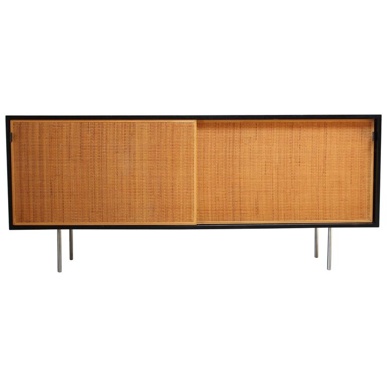 Early Florence Knoll Ebonized Credenza For Sale