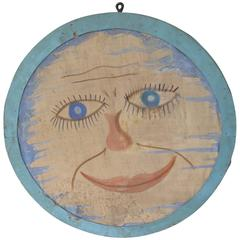 Folk Art Moon Face Light from a Fraternal Lodge
