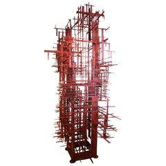 """""""Big Red"""", a Spectacular Welded and Painted Steel Sculpture by Darcy Badiali"""