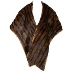 1950s-1960s Mink Stole by Berksons the House of Courtesy, Topeka, Ks