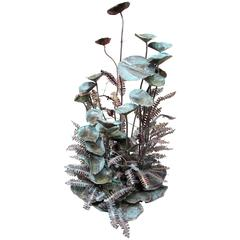 Copper Plant Sculpture