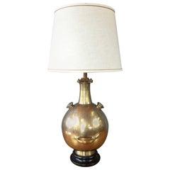 "Monumental Marbro Brass ""Diving Bell"" Table Lamp"