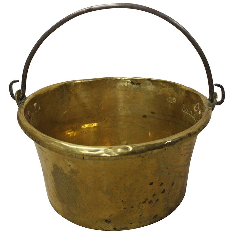 French Early 19th Century Large Cauldron in Brass