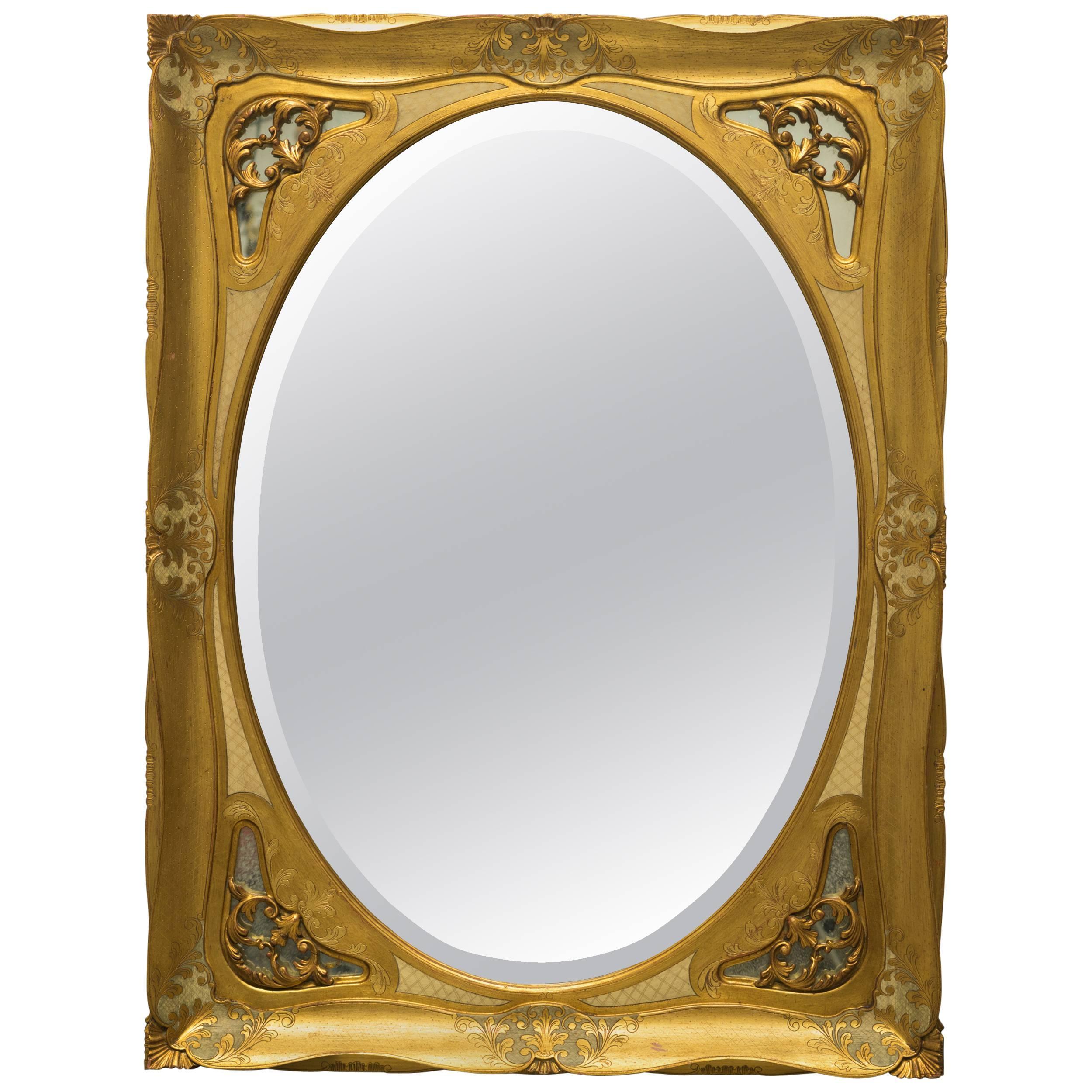 Large Giltwood Florentine Wall Mirror