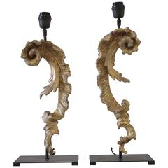 19th Century Gilt French Fragment Decorative Lamps
