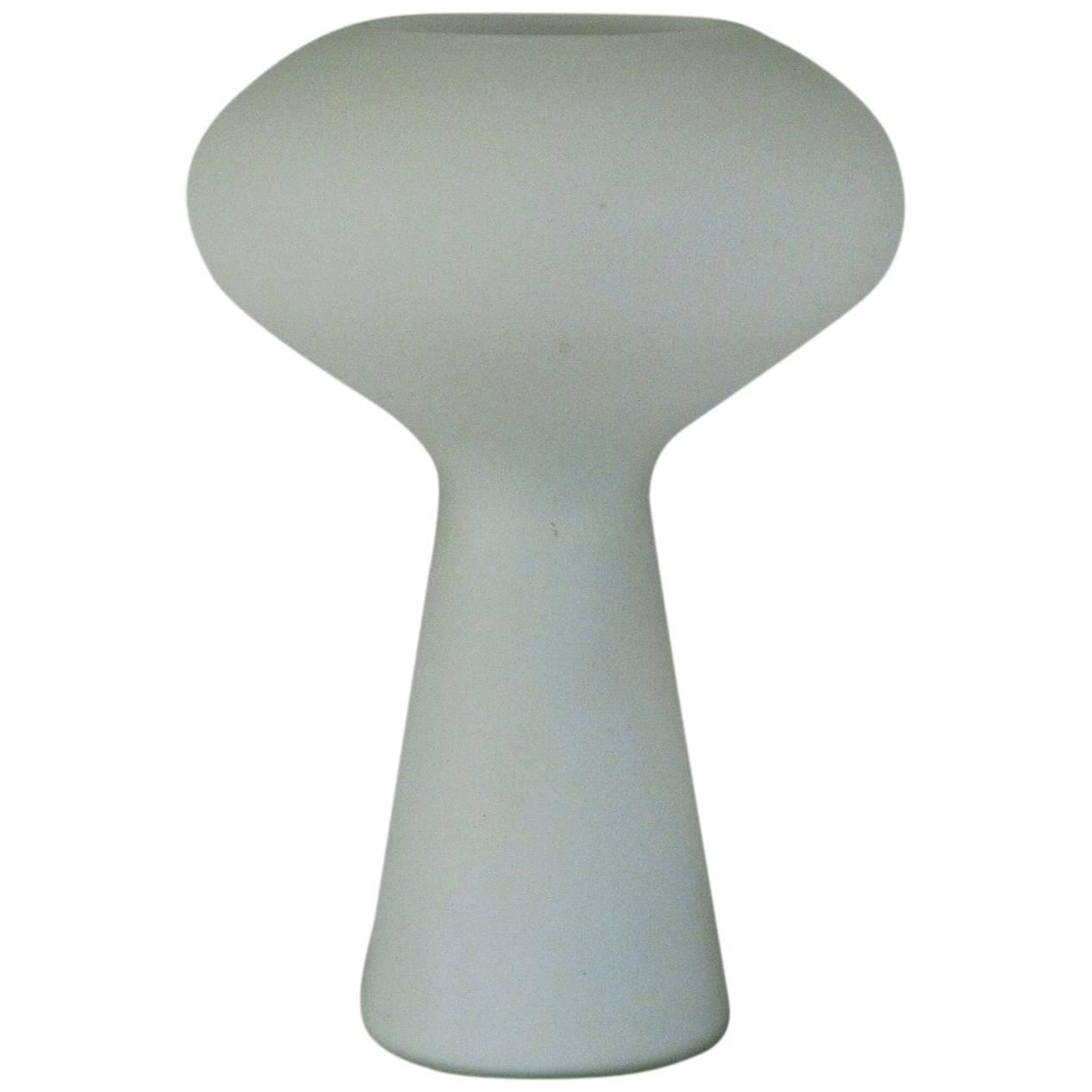 italian made frosted glass mushroom lamp in the lisa johansson  - italian made frosted glass mushroom lamp in the lisa johanssonpape styleat stdibs