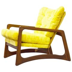 Adrian Pearsall Sculpted Walnut Lounge Chair