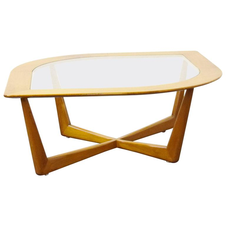Mid-Century Modern Eye Shaped Coffee Table By Lane For