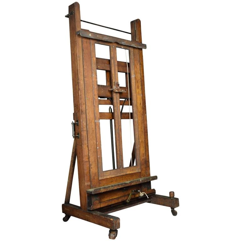 Large Oak Studio Easel By Windsor And Newton For