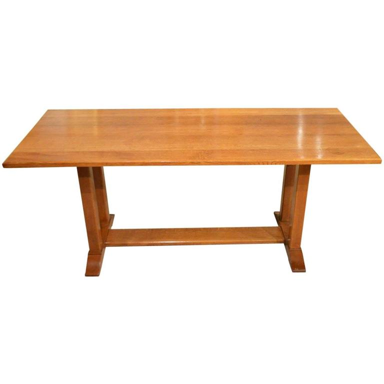 Rare Oak Arts And Crafts Refectory Table By Gordon Russell For Sale