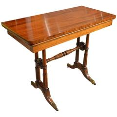 Goncalo Alves Late Regency Period Fold over Card Table