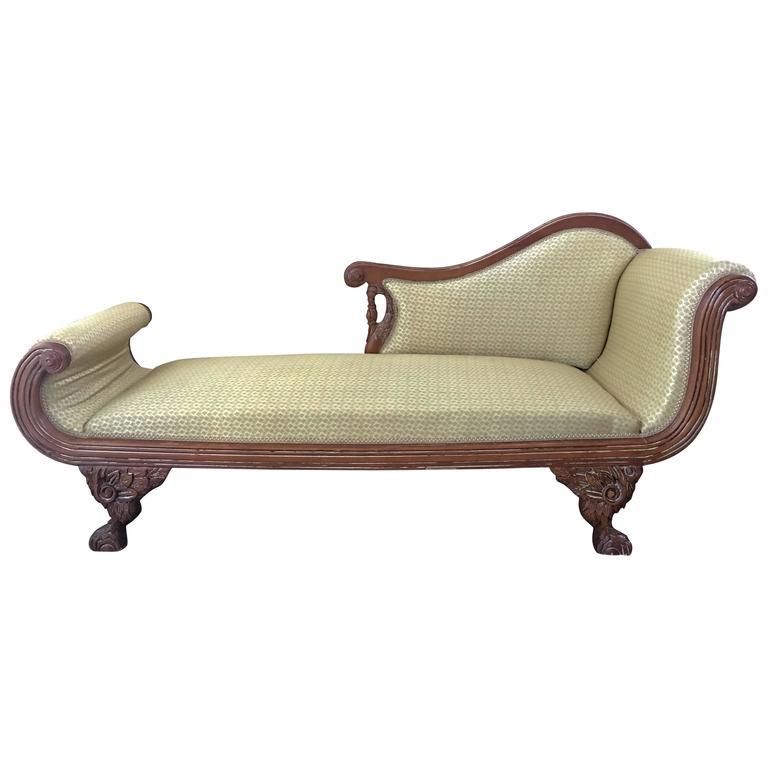Early 20th Century Regency Mahogany Chaise