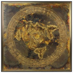 Acid-Etched Abstract Bronze Art Panel by Bernhard Rohne