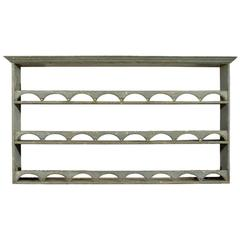 Painted English Plate Rack with Semi Circular Fretting, circa 1900