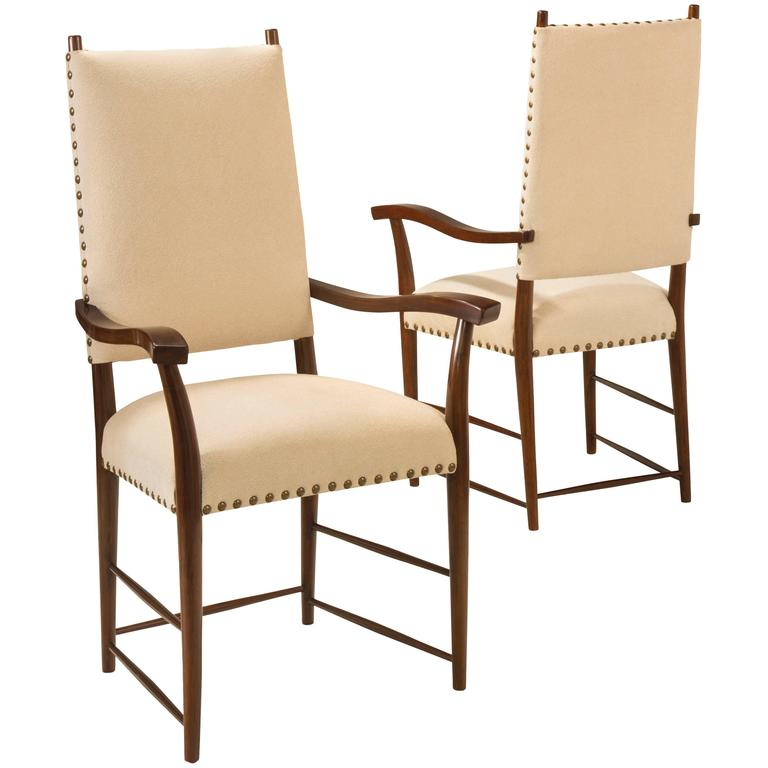 Set of 12 In the Manner of Josef Frank for Haus and Garten, Walnut ...