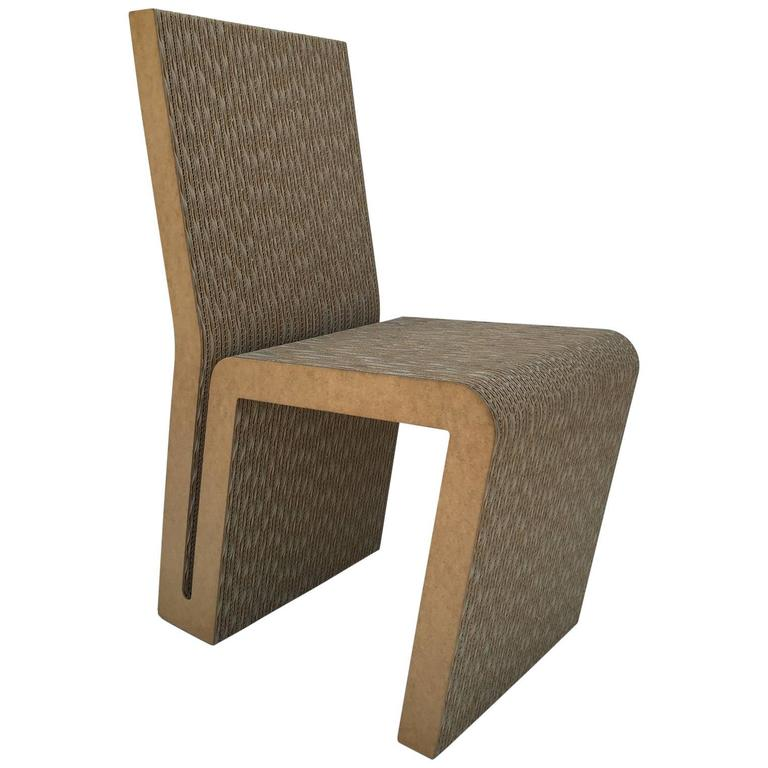 Easy Edges Cardboard Side Chair by Frank Gehry 1