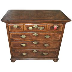 18th Century English Walnut and Kashmir Walnut Chest