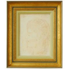 Pascal Cucaro Profile Portrait Oil on Board