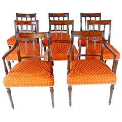 8 Dining Chair Set George III Period - Cuban Mahogany - Strong and Comfortable