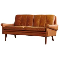 Two-Seat Danish Leather Sofa by Svend Skipper from the 1960s