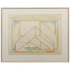 "Al Held ""Kyoto-Wa"" Colored Woodcut on Paper"