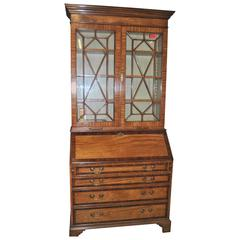 18th Century English Bookcase or Secretary in Satinwood and Rosewood