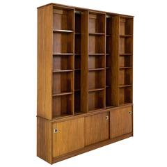 Magnificent and Rare Mid-Century Modern Library Bookcase, 1960-1970