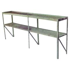 Long Narrow Industrial Mesh Console