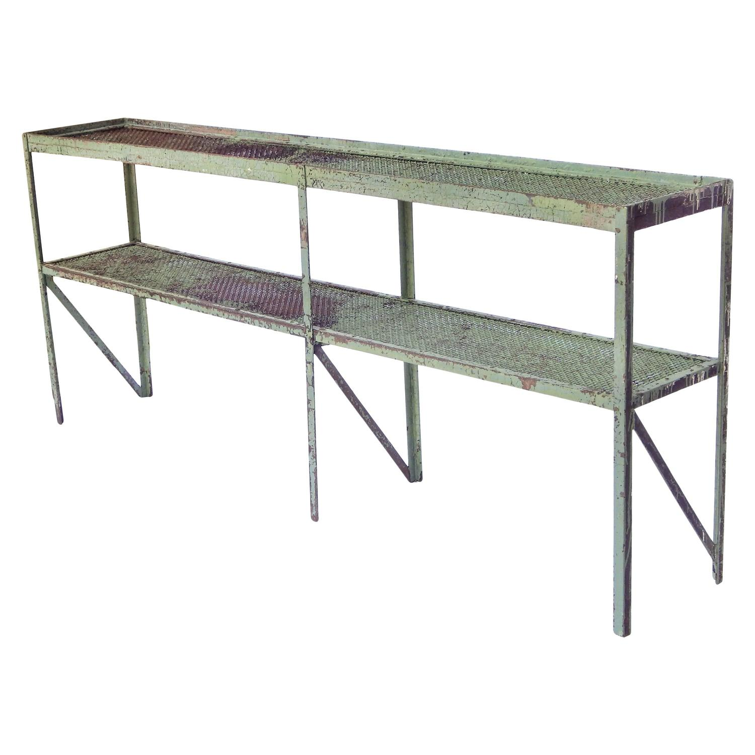 Long Narrow Industrial Mesh Console For Sale At 1stdibs
